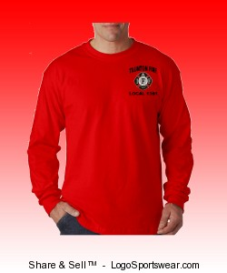 Red Long Sleeve Tee Design Zoom